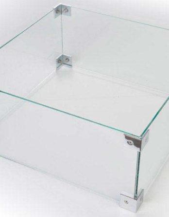 Happy Cocooning Vuurtafel Glazen Ombouw Vierkant