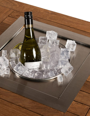 Happy Cocooning Vuurtafel Losse Inbouw Wijnkoeler Vierkant